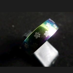 Other - Rainbow Paw Stainless Steel Ring Sz 11
